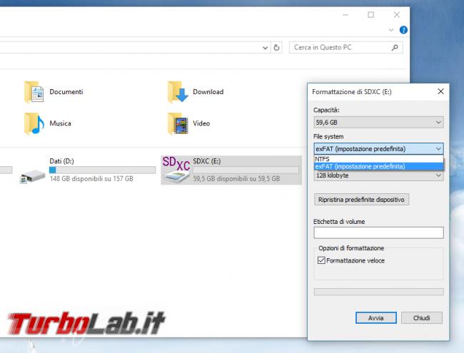 Scheda SDXC non supportata - come formattare SDXC FAT32 - format sdxc ntfs exfat