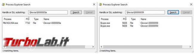 Scopri quale processo utilizza webcam blocca impedendoti utilizzarla