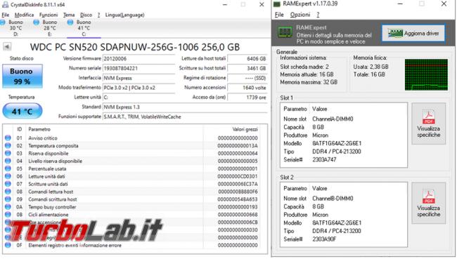Scopri tipo memoria RAM disco fisso installati fare upgrade migliorare prestazioni computer