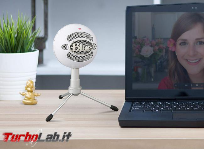 Scrivere voce: come dettare trascrivere testi PC Windows 10 - microfono BlueSnowball ICE