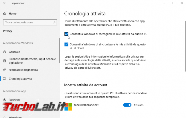Sequenza temporale Windows 10 (Timeline): cos'è come usarla meglio
