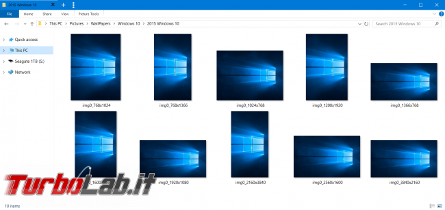 Sfondo nero originale Windows 10: download diretto (desktop wallpaper)