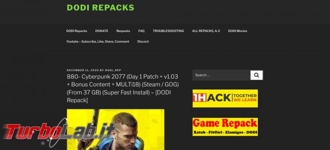 Siti BitTorrent 2021: migliori scaricare giochi formato repack