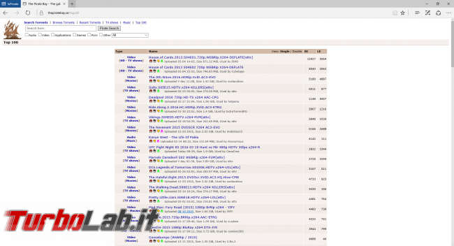 Siti BitTorrent italiano 2019: 10 migliori indici trovare .torrent ITA (alternative KickassTorrents ed ExtraTorrent)
