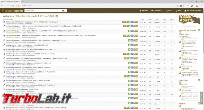 Siti BitTorrent italiano 2021: 10 migliori indici trovare .torrent ITA (alternative TNTVillage)