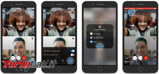 Skype condividi schermo smartphone durante videochiamate - Annotazione 2019-06-06 074435