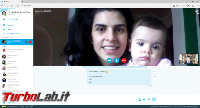 Skype si videochiama browser web, senza plugin