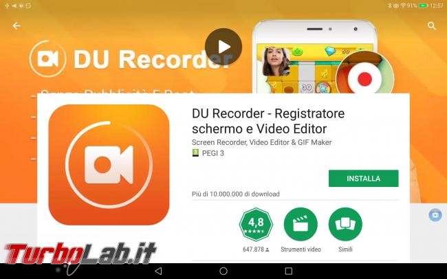 Smartphone/tablet Android: come registrare schermo creare video