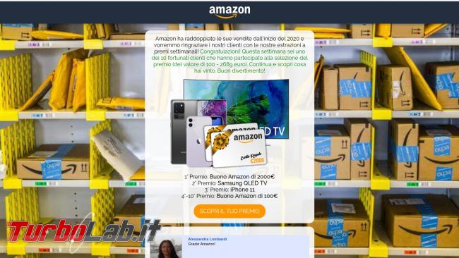 SMS Amazon: Hai messaggio riguardante articolo nome arrivato 3. classifica