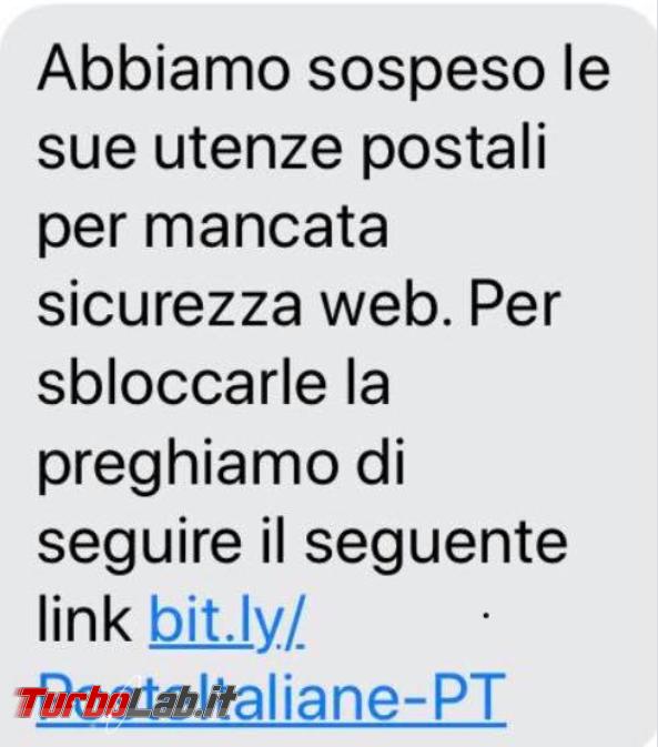 SMS truffa si finge Poste Italiane invita cliccare link sbloccare utenze postali - FrShot_1588835558