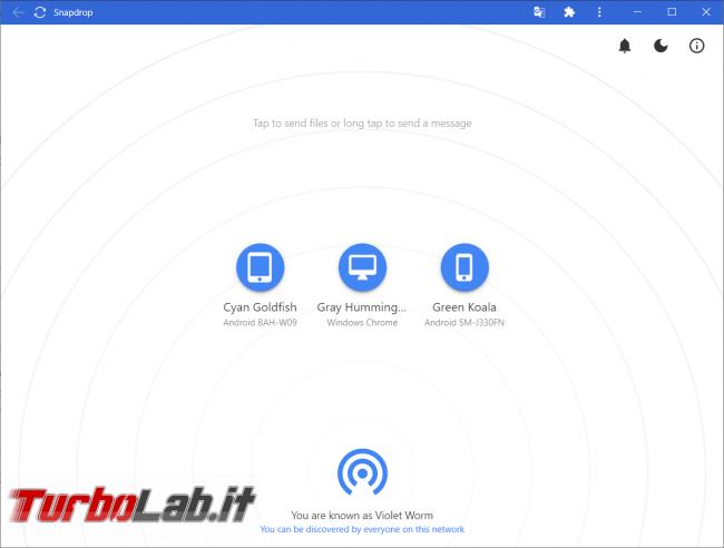 Snapdrop permette scambiare file qualsiasi dispositivo sistema operativo