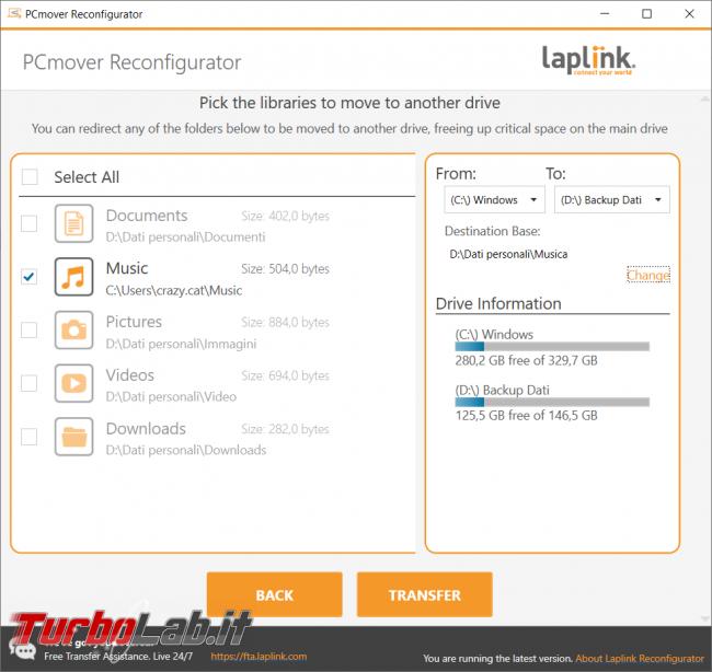Spostare cartelle importanti account Windows mettere sicuro dati recuperare spazio disco fisso