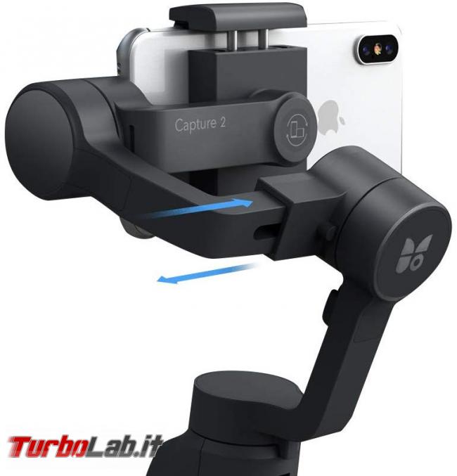 Stabilizzatore smartphone Funsnap Capture 2: recensione, video-prova, impressioni d'uso (gimbal) - funsnap capture 2 braccio mobile