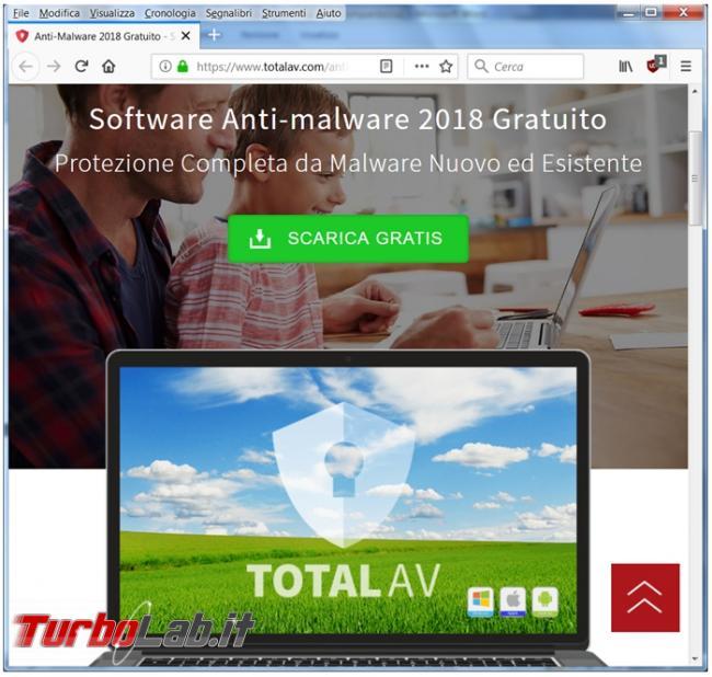 State attenti Total AV (falso) miglior antivirus 2018