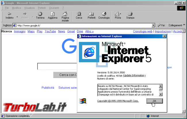 storia Windows, anni 1998 1999: Windows 98 Windows 98 Second Edition - internet explorer  5