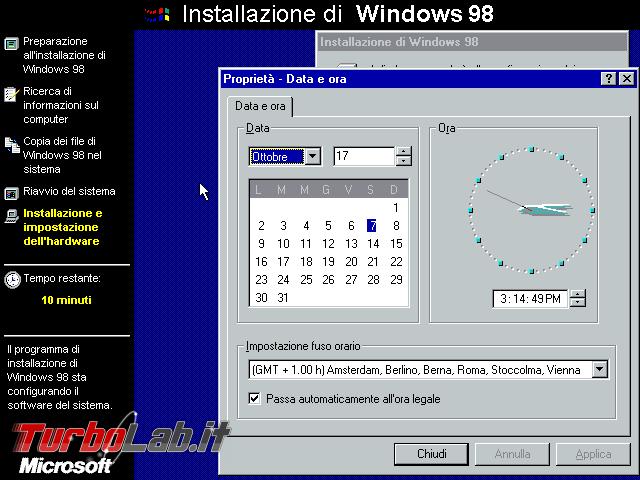 storia Windows, anni 1998 1999: Windows 98 Windows 98 Second Edition - VirtualBox_Windows 98_07_10_2017_15_39_12