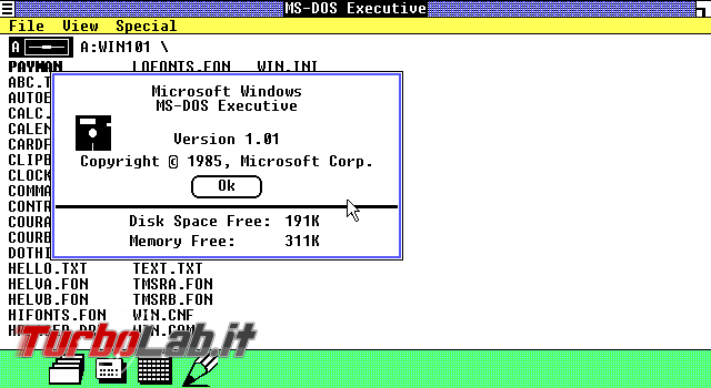 storia Windows, anno 1985: Windows 1.0 - VirtualBox_MS-DOS_22_06_2018_14_25_51