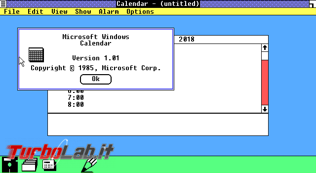 storia Windows, anno 1985: Windows 1.0 - VirtualBox_MS-DOS_22_06_2018_14_43_22