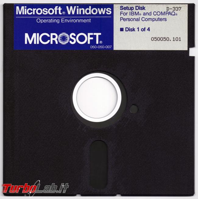 storia Windows, anno 1985: Windows 1.0 - windows 1.0 floppy