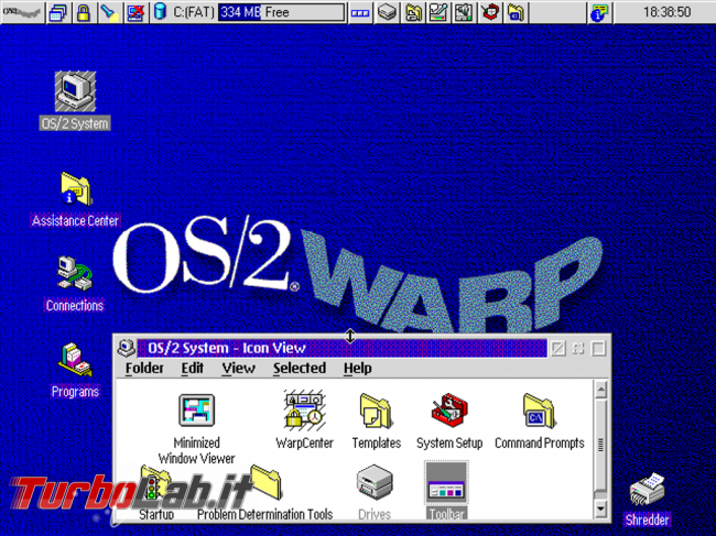 storia Windows, anno 1987: OS/2 - OS-2 Warp Desktop