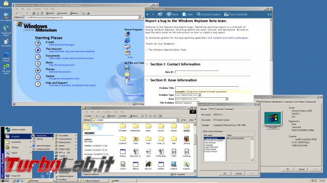 storia Windows, anno 1999: Windows Neptune - windows neptune desktop