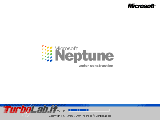 storia Windows, anno 1999: Windows Neptune - windows neptune loading