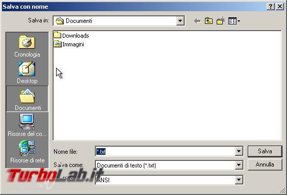 storia Windows, anno 2000: Windows 2000 - windows 2000 finestra dialogo apri