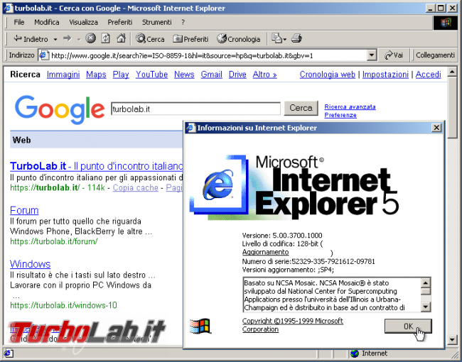 storia Windows, anno 2000: Windows 2000 - windows 2000 internet explorer 5
