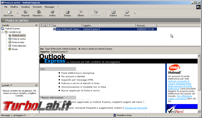 storia Windows, anno 2000: Windows 2000 - windows 2000 outlook express 5