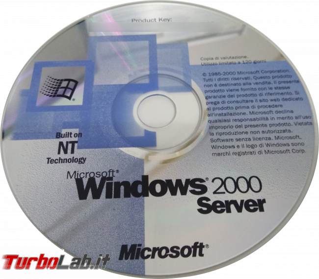 storia Windows, anno 2000: Windows 2000 - windows 2000 server cd demo