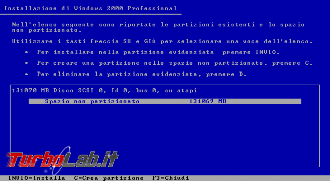 storia Windows, anno 2000: Windows 2000 - windows 2000 setup