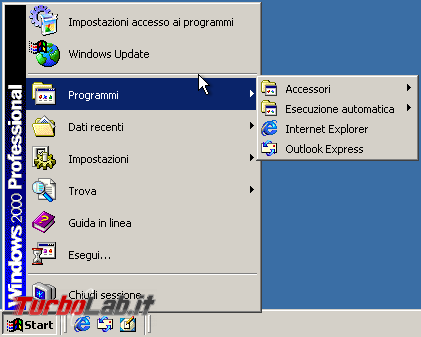storia Windows, anno 2000: Windows 2000 - windows 2000 start