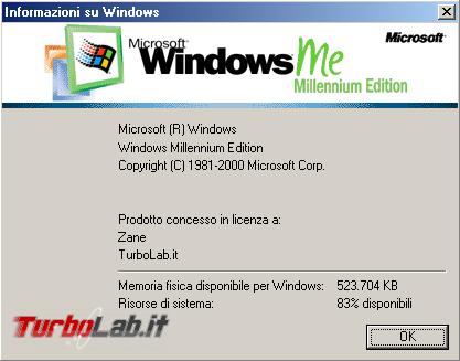 storia Windows, anno 2000: Windows ME (Millennium Edition)