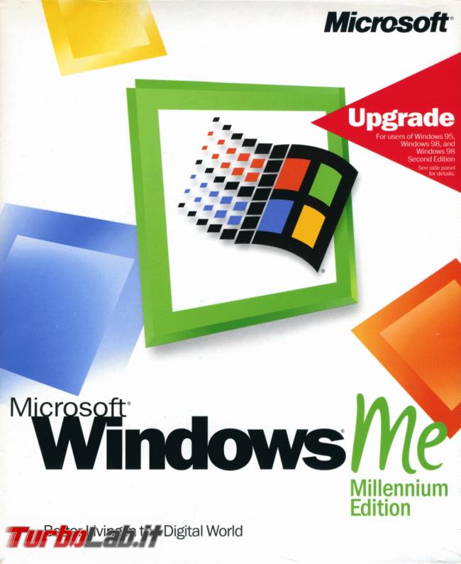 storia Windows, anno 2000: Windows ME (Millennium Edition) - windows me millennium edition box