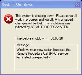 storia Windows, anno 2001: Windows XP - rpc crash blaster