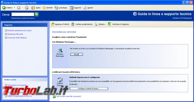 storia Windows, anno 2001: Windows XP - windows xp assistenza remota