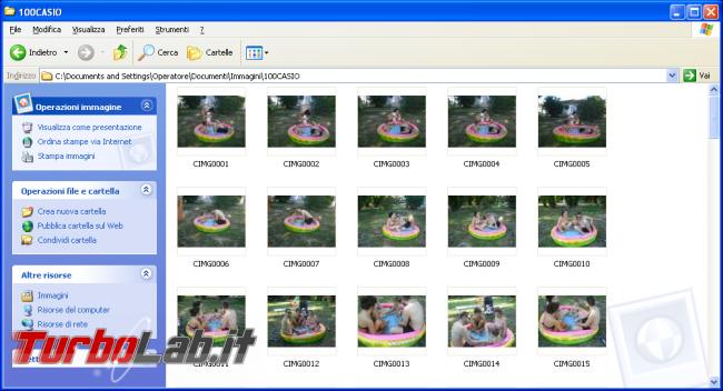 storia Windows, anno 2001: Windows XP - windows xp  cartella immagini