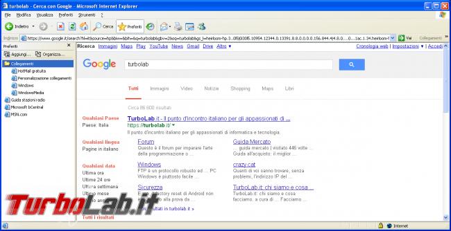storia Windows, anno 2001: Windows XP - windows xp internet explorer 6 ie6