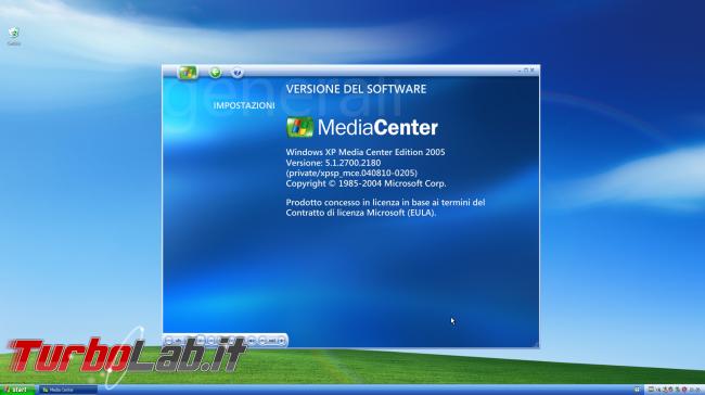 storia Windows, anno 2002: Windows XP Media Center Edition - windows xp media center