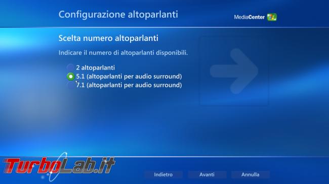 storia Windows, anno 2002: Windows XP Media Center Edition - windows xp media center audio setup