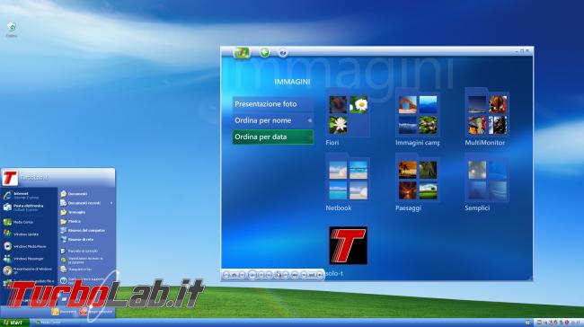 storia Windows, anno 2002: Windows XP Media Center Edition - windows xp media center desktop