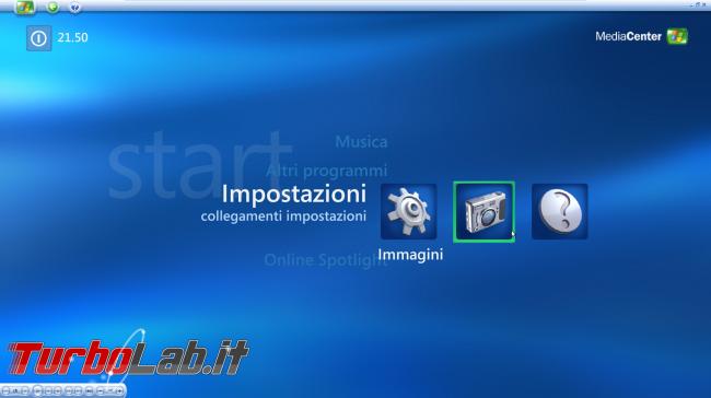 storia Windows, anno 2002: Windows XP Media Center Edition - windows xp media center impostazioni  2
