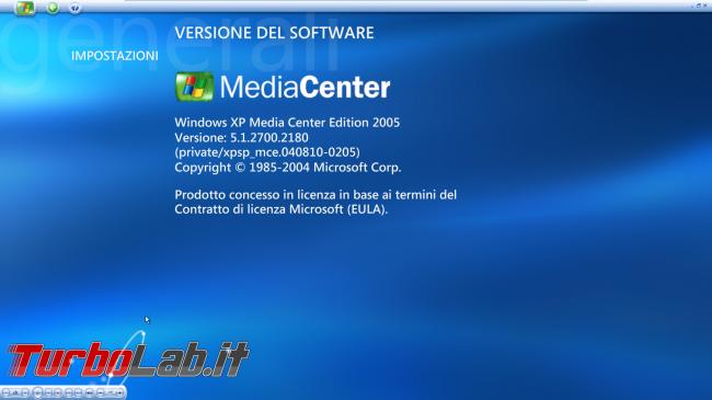 storia Windows, anno 2002: Windows XP Media Center Edition - windows xp media center informazioni su