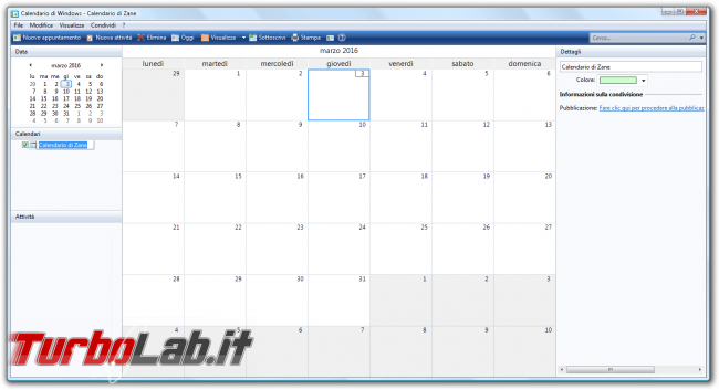 storia Windows, anno 2006: Windows Vista - Calendario di Windows - Calendario di Zane