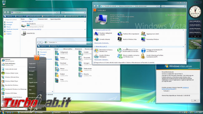 storia Windows, anno 2006: Windows Vista - windows vista desktop
