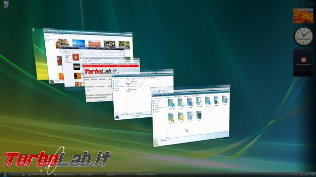 storia Windows, anno 2006: Windows Vista - windows vista flip 3d