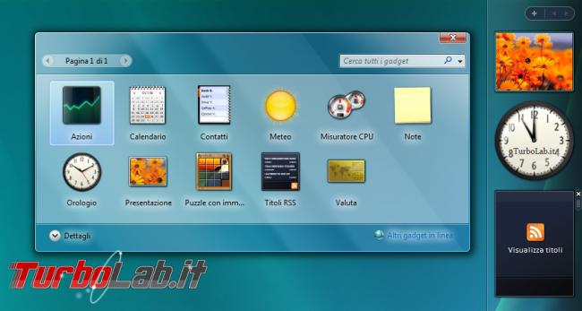 storia Windows, anno 2006: Windows Vista - windows vista sidebar gadget
