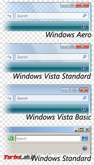storia Windows, anno 2006: Windows Vista - windows vista visual style aero basic