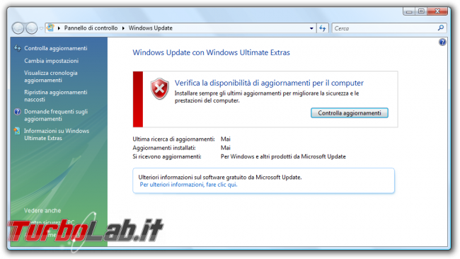 storia Windows, anno 2006: Windows Vista - windows vista Windows Update