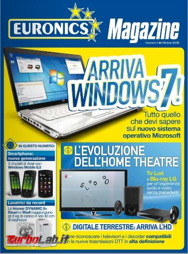 storia Windows, anno 2009: Windows 7 - volantino euronics windows 7